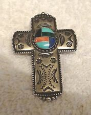 Carolyn Potter, Hand Crafted Zuni Cross Turquoise 925