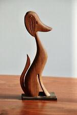 MID CENTURY Hund mit WACKELOHREN Figur Dackel 50er 60er Holz Vintage