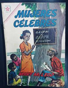 Mujeres Celebres # 12 Mary McLeod Comic Spanish Mexican Novaro 1962
