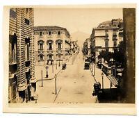 Catania Strada Etnea Foto originale albumina Giuseppe Incorpora 1870c XL398