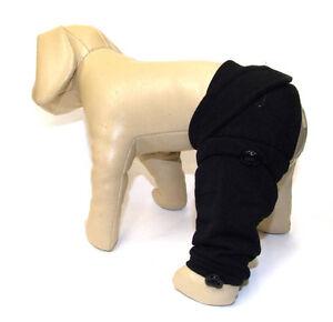 Post-OP Wundschutz für hinterbeine ,Hunde OP Hosenbein  * BLACK *dogszone