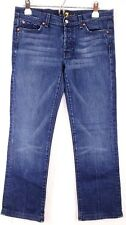 7 for all Mankind Women's Button Fly Boycut Denim Jeans Size 34 X 29
