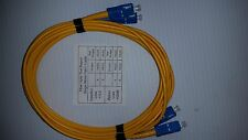 3 Meter SC to SC Singlemode Duplex High Speed Fiber Optic Ethernet Patch Cable