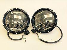 """LED Headlite 97-16 Jeep 7"""" Black 6500K LED Light w/DLR Lamp"""