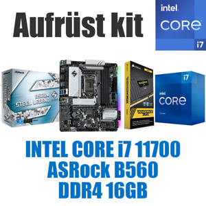 🅸🅽🆃🅴🅻 Core i7 11700 ● B560 Mainboard ● 16GB RAM ● Intel Bundle Kit + GRAFIK