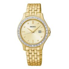 Seiko Quartz (Battery) Gold Plated Strap Wristwatches