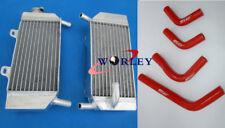 For HONDA CRF250R CRF250X 2004 05 06 07 08 2009 Aluminum radiator & hose RED