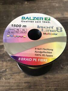 Balzer IronLine 8 Multicolor   Angelschnur   Dicke 0.15mm   1500m NEU Top