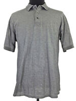 Greg Norman Mens Gray Mercerized 2-Ply Short Sleeve Golf Polo Shirt Size Large