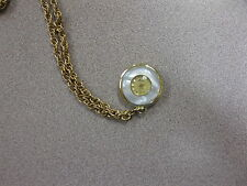 Necklace Watch W/Goldtone Chain Lady Nelson Swiss Made Pendant