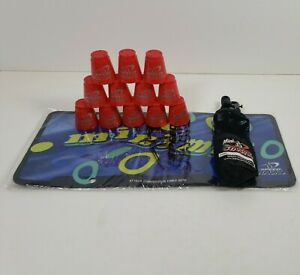 Speed Stacks Lot w/12 Mini Red Cups and Mini Stack Mat