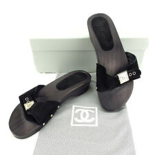CHANEL Sandals COCO Mark Ladies Authentic Used D1372