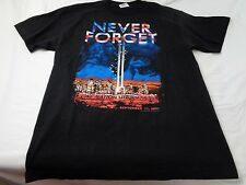 Vintage Never Forget One Nation Under God September 11, 2001 T-Shirt Size Large
