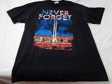 Vintage Never Forget One Nation Under God September 11, 2001 T-Shirt Size Large