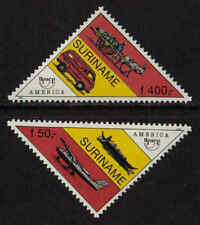 Surinam / Suriname 1994 UPAEP America '94 airplan flugzeug avion donkey-car MNH