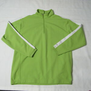 Nike Fit Therma Golf 1/2 Zip Green Pullover Mens XL Long Sleeve
