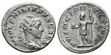 Impero Romano Philippus Caesar Globus Lancia Roma Argento 4,57 g / 23 mm