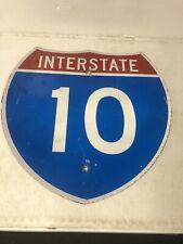 Authentic Retired Texas Interstate 10 Highway Sign Louisiana Alabama Florida