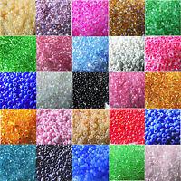 Bastelperlen Mini Perlen Rocailles 2 mm für Perlentiere und Deko Farbwahl Best A