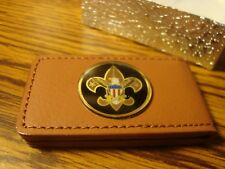 BOY SCOUTS Money Clip Logo Design BUCHANAN'S DELUXE Faux Leather Magnetic
