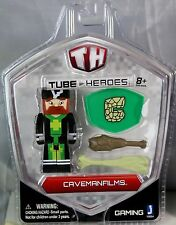 Tube Heroes Miniature Action Figure With Accessories Set Playset Kids Toy Age 8 Caveman