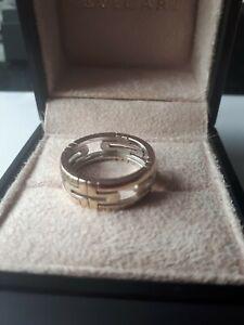 BVLGARI Parentesi White Gold Band Ring, Size 58