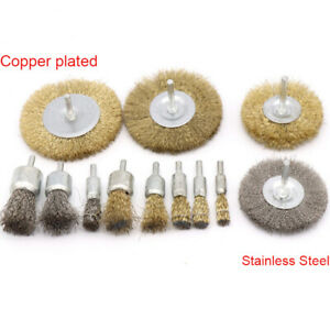 COPPER WIRE BRUSH DRILL ROTARY TOOL GRINDER POLISHING FOR METAL RUST REMOVAL