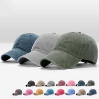 Adjustable Women Men Plain Washed Cap Style Cotton Baseball Cap Blank Solid Hat