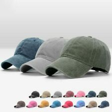 Adjustable Women Men Plain Washed Cap Style Cotton Baseball Cap Blank Solid Hat