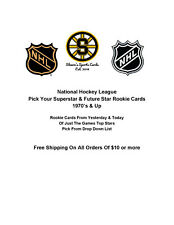 Pick Your NHL Hockey Superstar & Future Star RC Rookie Cards 1970's & Up
