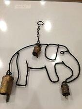 Hecho A Mano Rustica Vintage acabado de metal elefante Carillón de viento hecho en la India