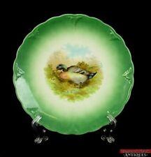 Antique Petrus Regout & Co. Maastricht Holland Decorative Game Bird Plate L7Y