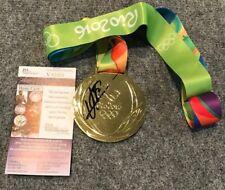 USAIN BOLT AUTOGRAPHED SIGNED JAMAICA RIO OLYMPICS GOLD MEDAL JSA COA
