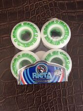 Ricta Skateboard Wheels 52mm Speed Rings White With Green Cores And Green Graphi