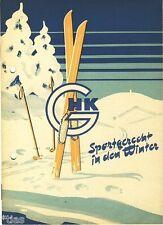 Großhandelskontor GHK Katalog Sportgerecht in den Winter Wintersport DDR 1956