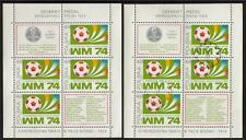 POLAND MNH & USED 1974 SG MS2315 WORLD CUP FOOTBALL CHAMPIONSHIP MINISHEETS