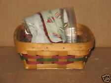 Longaberger 2008 Holiday Helper Basket Complete Set Mint Free Shipping!