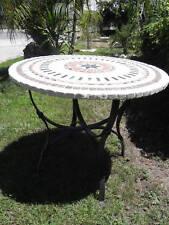 tavolo in marmo diam.cm 90 completo di piede in ferro