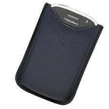 RIM Blackberry Bold 9000 Blue Leather Pocket Case Pouch HDW-19608-004