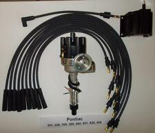 PONTIAC 350-389-400-455 BLACK Small FEMALE Cap HEI Distributor,Coil & PLUG WIRES