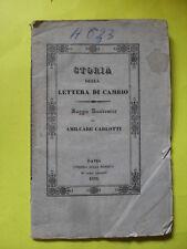 CARLOTTI - STORIA DELLA LETTERA DI CAMBIO - ED.DELA MINERVA - 1835