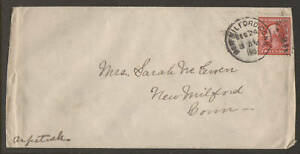 US Sc WX6, 332 on 1910 Cover to Connecticut