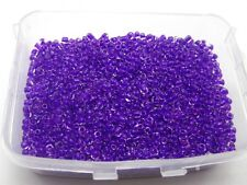 5000 Glass Seed Beads 2mm Colour lined inside Purple + Storage Box