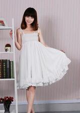 Elegant Women Sleeveless Casual Smocked Mini Party Beach Dress Sundress White