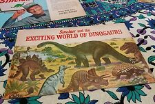 """(1) """"SINCLAIR AND THE EXCITING WORLD OF DINOSAURS"""" Booklet (1967) world's fair"""