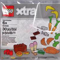 Lego Xtra 40309 Lebensmittel 30 tlg. Fisch Pizza Eis Geld Banane Polybag Neu #10