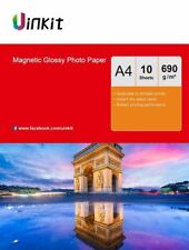 Magnetic Photo Paper A4 High Glossy Fridge Paper 650Gsm Thick Paper 10 Sheets