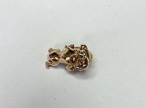 9ct Yellow Gold Bulldog Charm, Item A7161