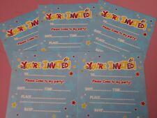 20 Childrens Kids Birthday Party Invitations Inc Envelopes