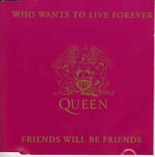 Queen 2 track cd single Who Wants To Live Forever / Friends Will be Friends 1992